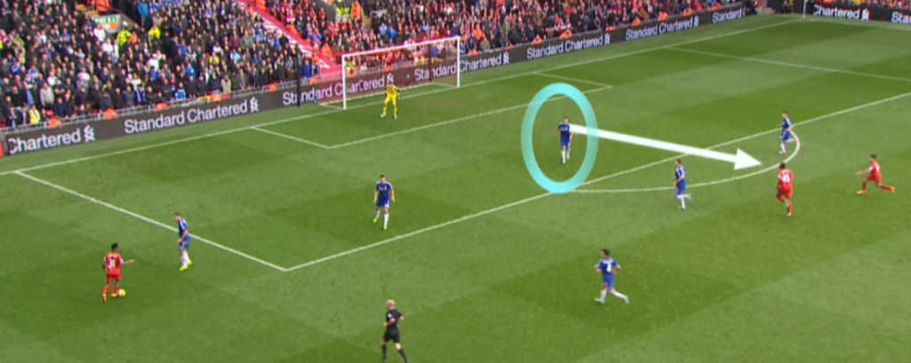 Védekezik a Chelsea egy Pool kontratámadásnál