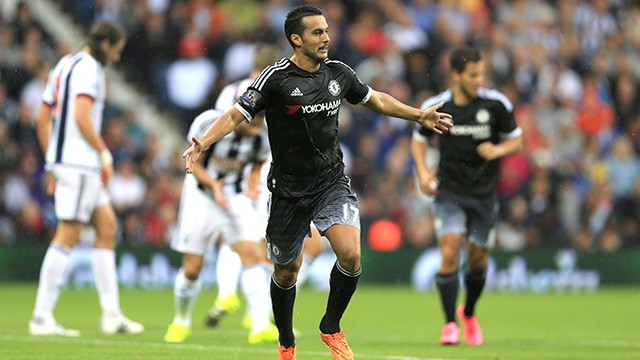 Pedro első és eddigi legjobb meccsét a West Brom ellen játszotta